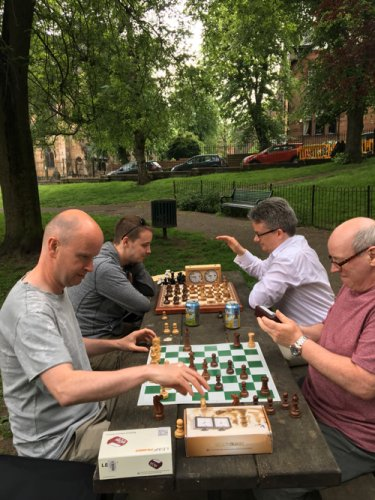 Playing Chess in Dowanhill Park